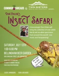 Common Threads Insect Safari @ Bellingham Beer Garden