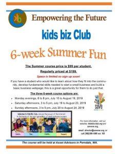 Kids Biz Club 6-Week Summer Class @ Asset Advisors, LLC