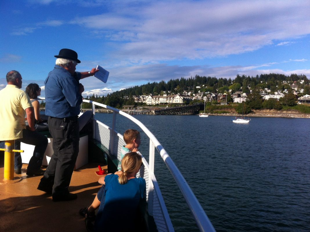 Brian Griffin leads a History Sunset Cruise on Bellingham Bay.