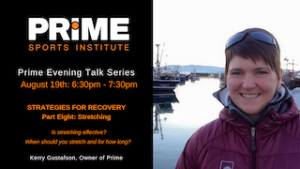 Strategies for Recovery with Kerry Gustafson @ Prime Sports Institute
