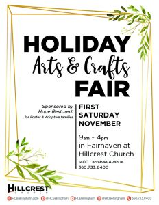 Holiday Arts and Craft Fair @ Hillcrest Church