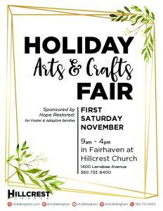 Holiday Arts and Craft Fair @ Hillcrest Church