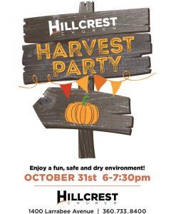 Hillcrest Church Harvest Party @ Hillcrest Church