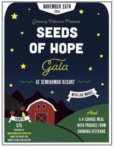 Growing Veterans Seeds of Hope Annual Gala @ Semiahmoo Resort & Spa