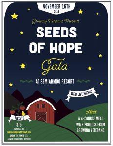 Growing Veterans Seeds of Hope Annual Gala @ Semiahmoo Resort & Spa