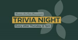 Trivia Night at Thousand Acre Cider House @ Thousand Acre Cider House