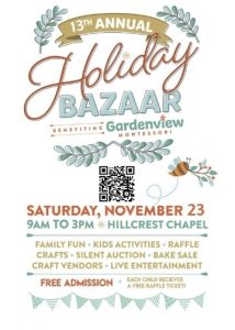 Gardenview's 13th Annual Holiday Bazaar @ Hillcrest Chapel