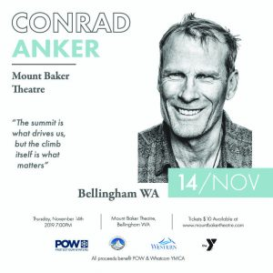 An Evening with Conrad Anker @ Mount Baker Theatre