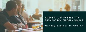 Cider University: Sensory Workshop @ Thousand Acre Cider House