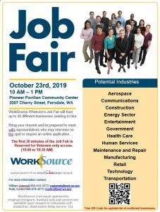 WorkSource Whatcom Job Fair @ Pioneer Pavilion Community Center, Ferndale, WA