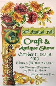 30th Annual Fall Craft & Antique Show @ Northwest Washinton Fair and Event Center