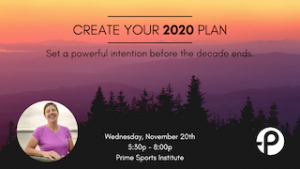 Create Your Plan for 2020 @ Prime Sports Institute
