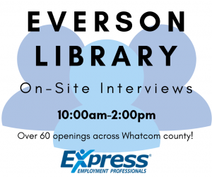 Hiring Event - Everson Library @ Everson Library