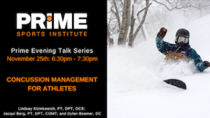 Concussion Management for Athletes @ Prime Sports Institute