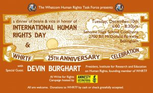 International Human Rights Day & WHRTF 25th Anniversary Celebration @ Sehome High School Commons