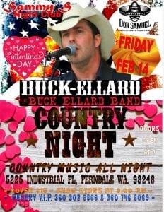 Buck Ellard Valentines western and country dance @ Sammy's night club