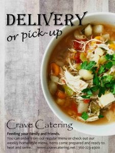 Crave Catering/Kelly's O'Deli home style meals