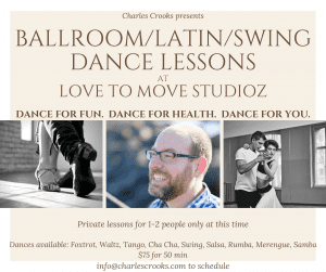 Ballroom/Latin/Swing Dance Lessons @ Love to Move Studioz
