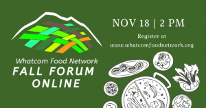Whatcom Food Network FALL FORUM ONLINE @ Online Zoom Meeting