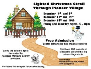 Lighted Christmas Stroll Through Pioneer Village @ Lighted Christmas Stroll Through Pioneer Village
