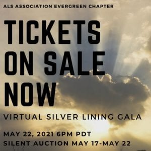 Virtual Silver Lining Gala - The ALS Evergreen Chapter @ Virtual